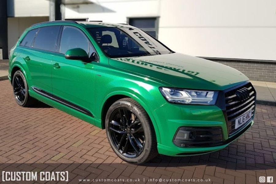 Q7-radioacive-green-vinyl-wrapping